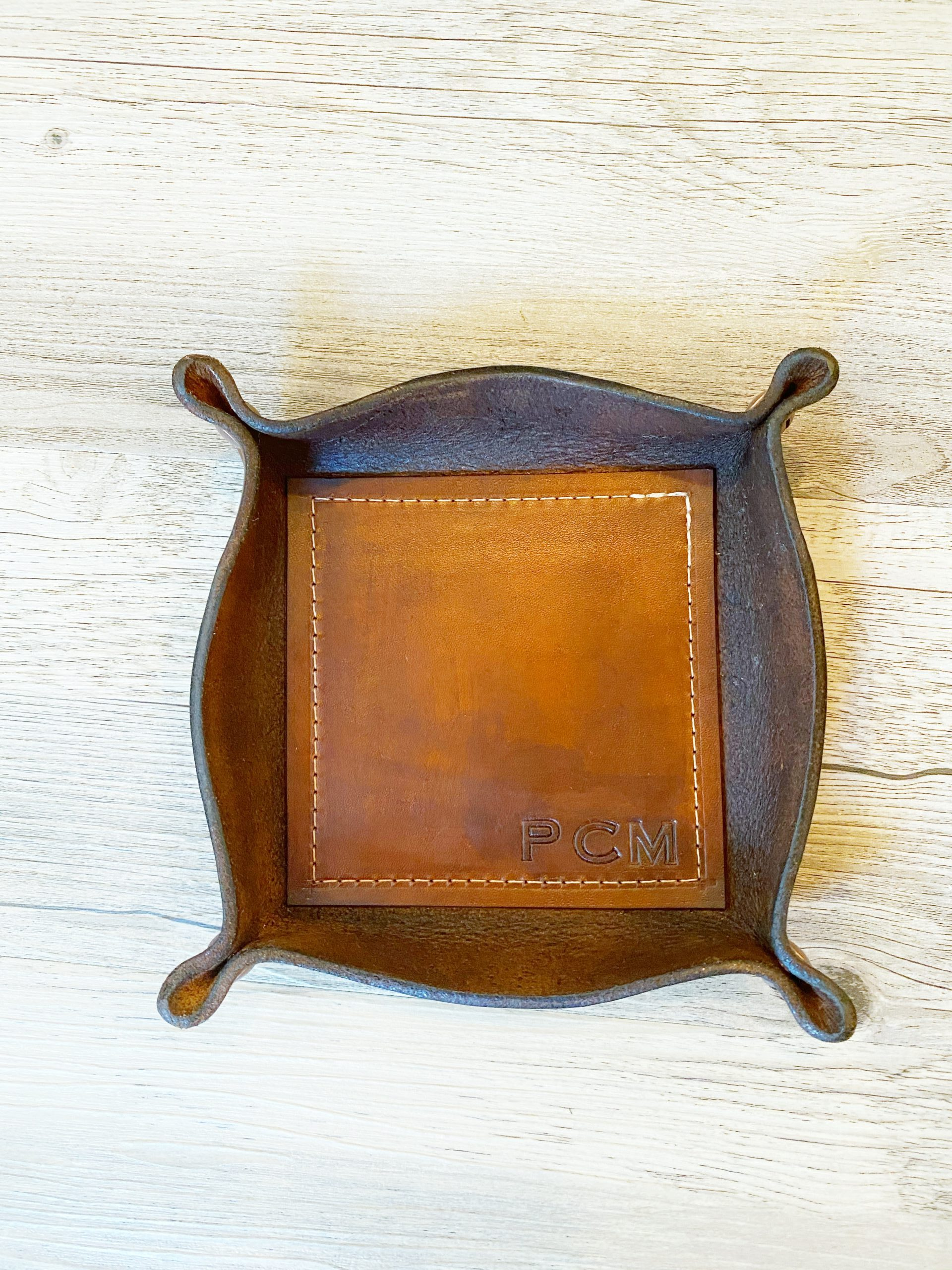 Valet Tray in Brown (customized)